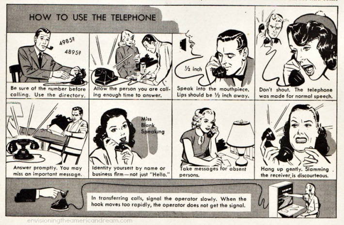 telephone how to use illustration