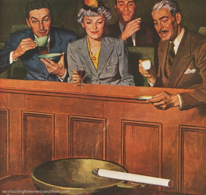 American jury vintage illustration