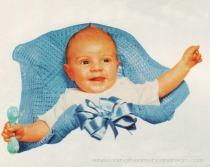 Vintage baby boy 1950s
