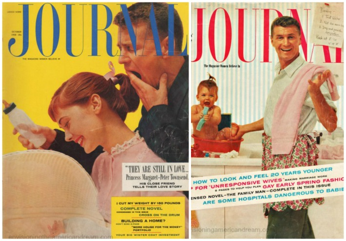 babies fathers vintage magazine covers 1950s