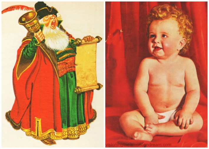 illustration town crier photo baby
