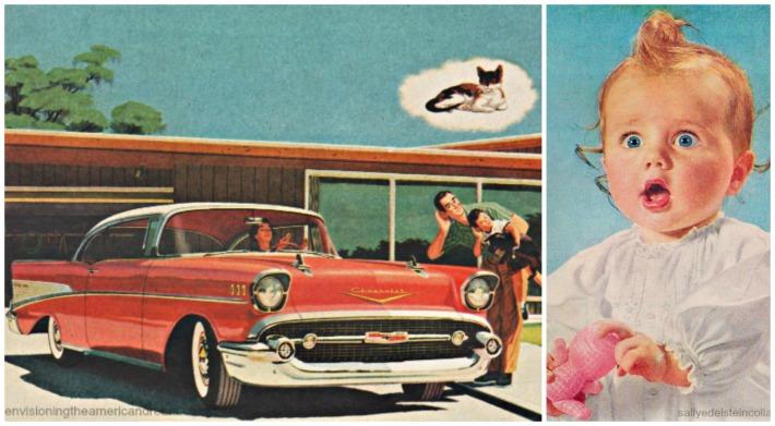 vintage car baby 1950s