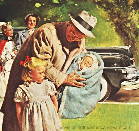 baby homecoming illustration Douglass Crockwell