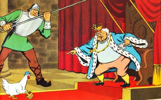 vintage childrens illustration king