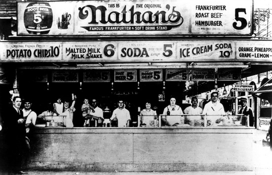 Nathan's Famous Hot Dogs Stand