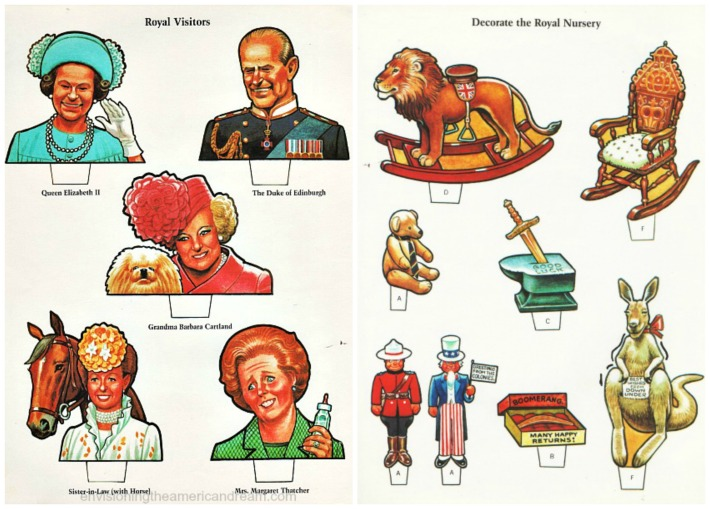 Royalty illustrations Queen Elizabeth, margaret Thatcher, Prince Philip