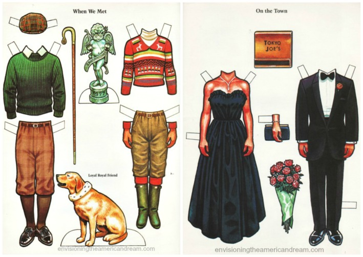 Royalty paperdoll cutuouts Charles and Diana