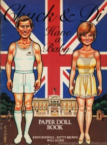 Prince Charles Princess Diana cartoon illustration 1982