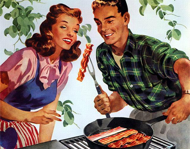 illustration barbecue suburbs