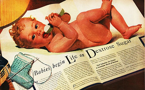 vintage illustration baby
