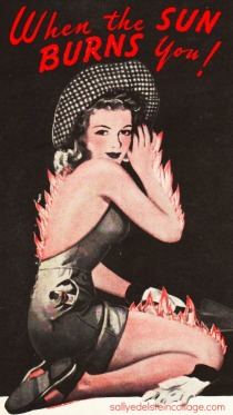 sunburn ad woman on fire