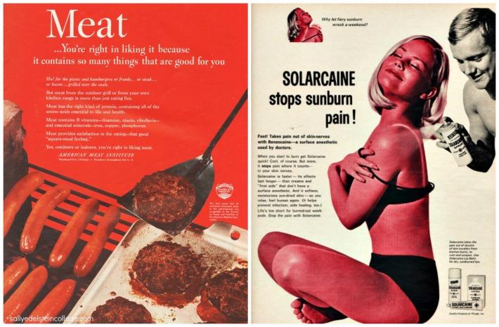 vintage ads meat sunburn