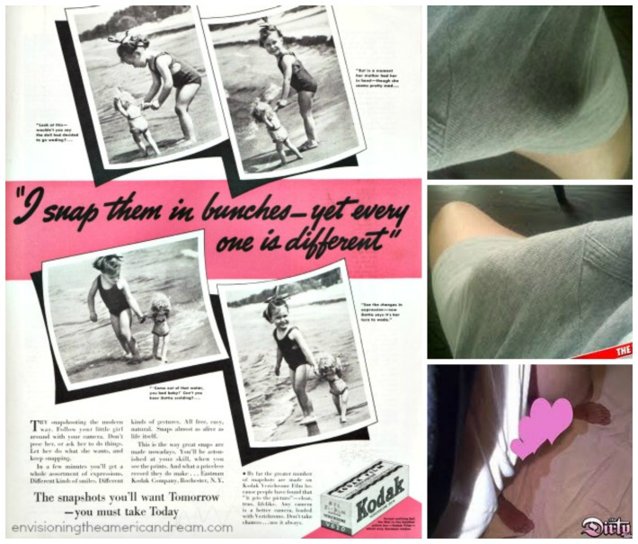 Vintage Kodak ad camera weiner crotch shots