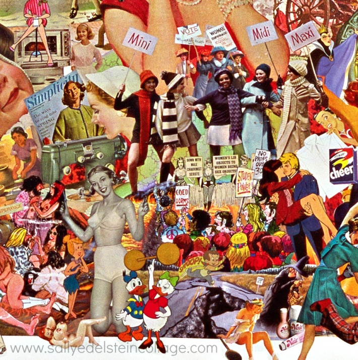 art work collage appropriated vintage images sally edelstein