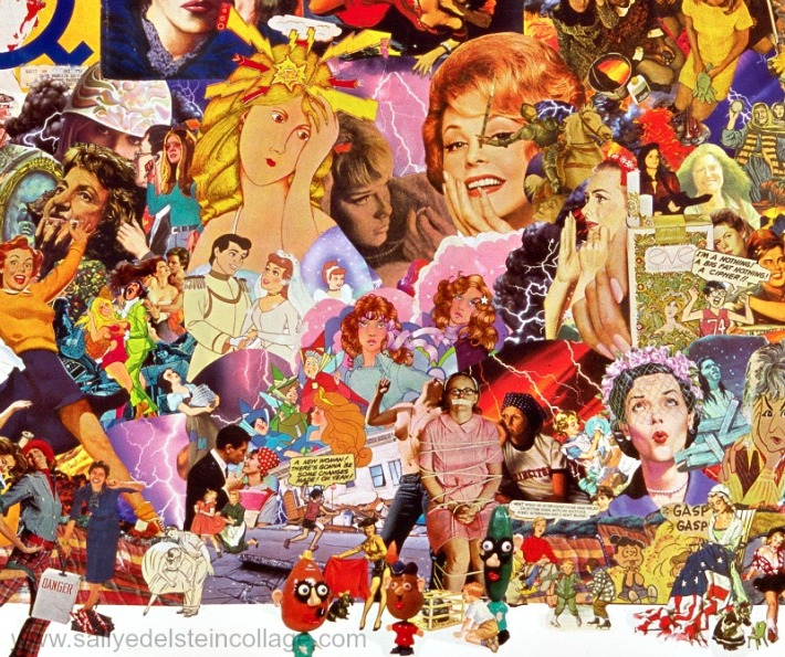 collage art appropriated images sally edelstein