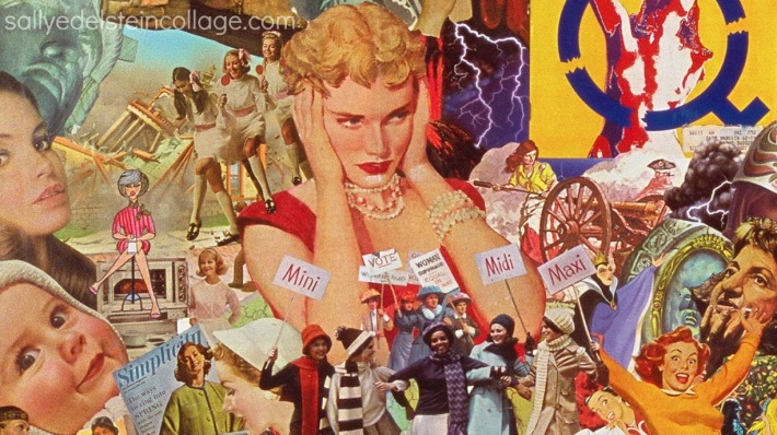 collage appropriated art sally edelstein women