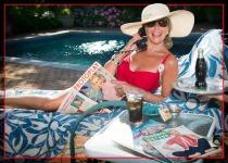 Sally Edelstein pool photo