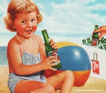 summer child beach 7 up ad