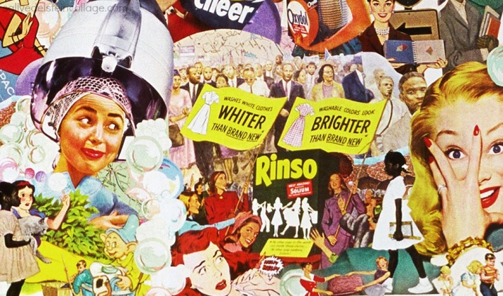 art collage appropriated images women civil rights