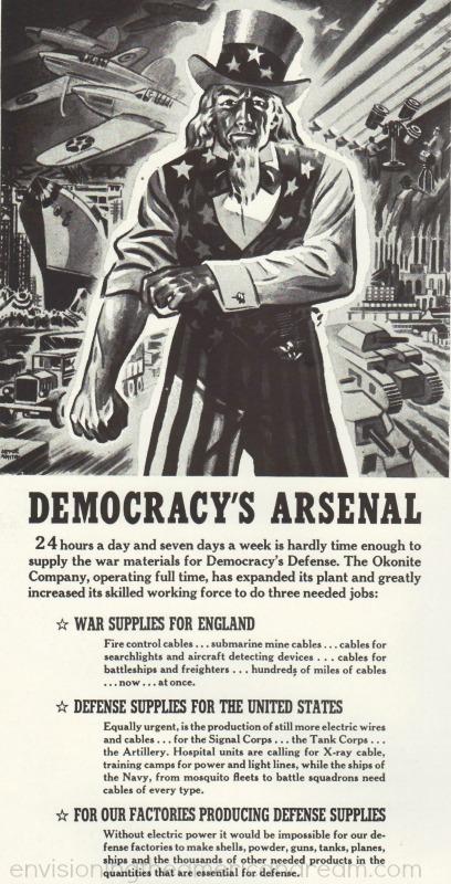 vintage editorial cartoon WWII Uncle sam