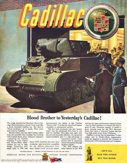 WWII Cadillac Ad 1944