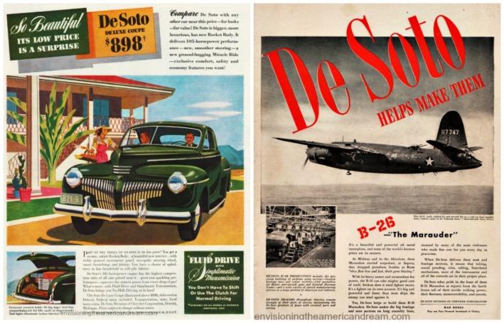 WWII DeSoto car ads