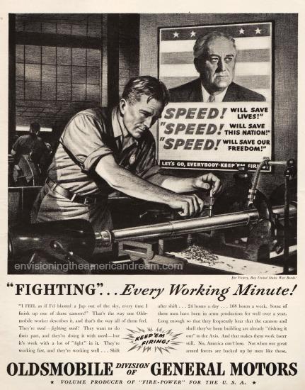 Vintage WWII Ad Oldsmobile 1942