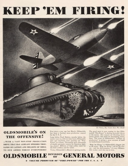 WWII Oldsmobile ad