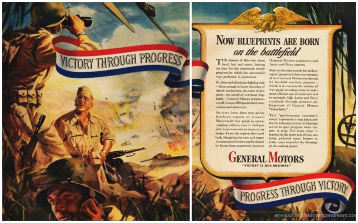 WWII Production GM vintage ad illustration