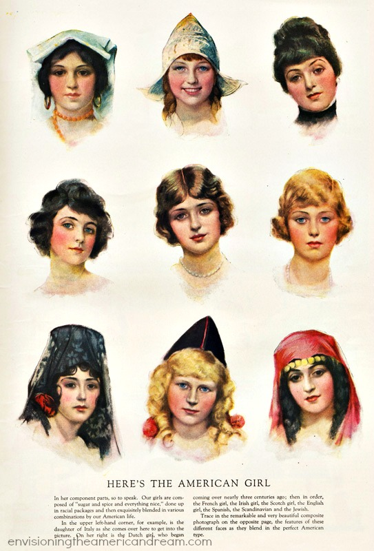 1920 american girls illustrations