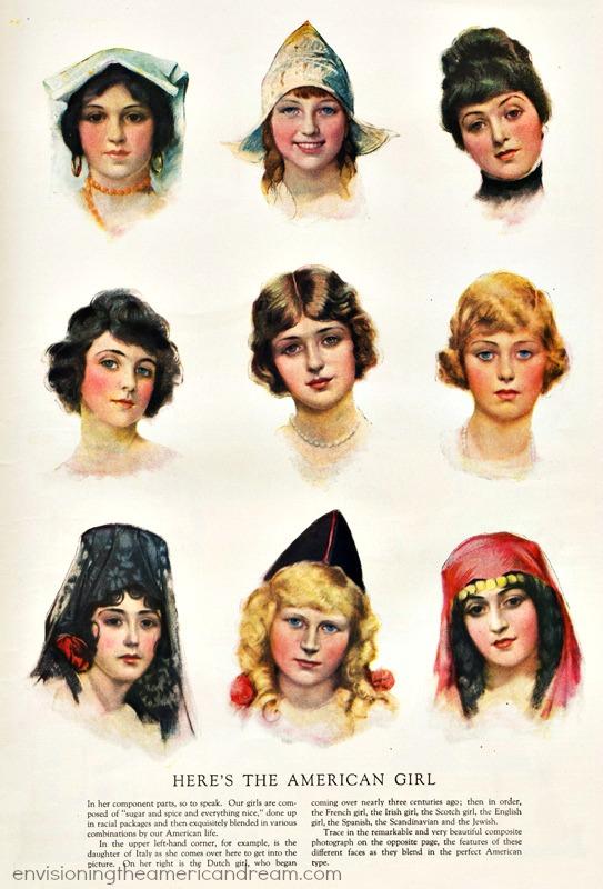 1920 american girls illustrations