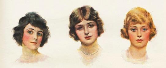 vintage illustration American women ethnic 1920