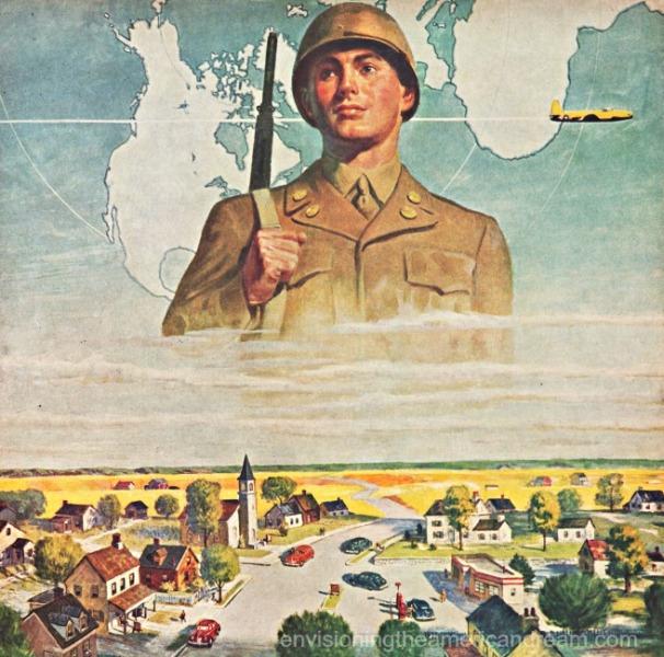 vintage illustration soldier army US