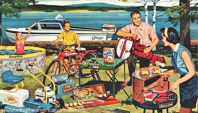 American illustration 1950s family consumers
