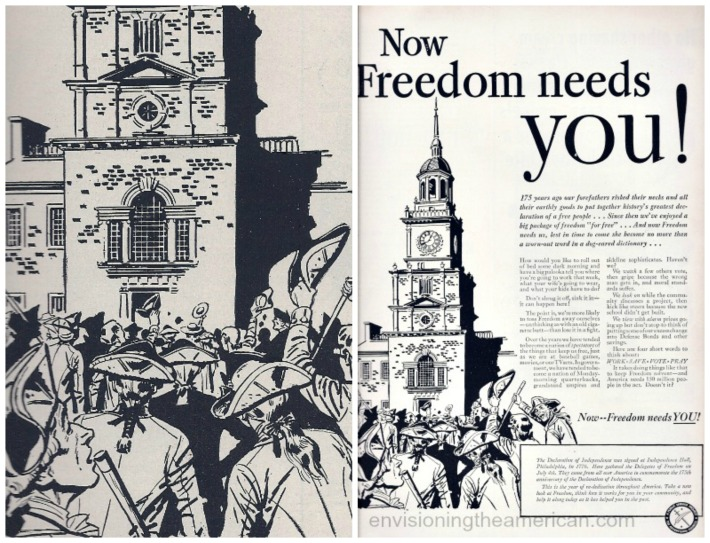 american patriotism Public Service Ad 1951 Now Freedom needs You!