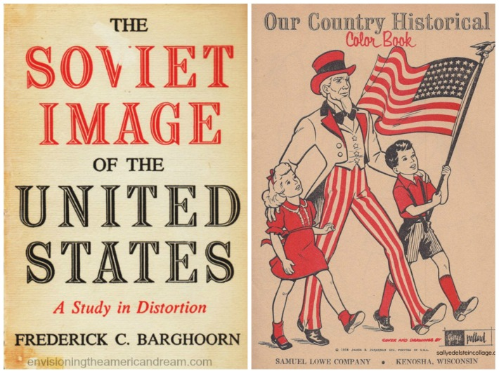 American & Soviet Propaganda Cold war book illustration Uncle Sam