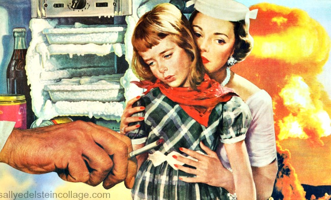 collage cold war vintage appropriated images