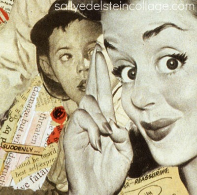 "Keep Your Fingers Crossed"" Collage by Sally Edelstein"