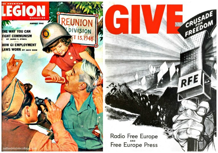 commmunism RFE vintage illustration family picnic