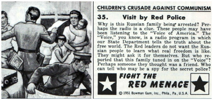 "communism ""Childrens Crusade Against Communism"" trading Cards"