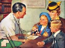 illustration doctor 1940s