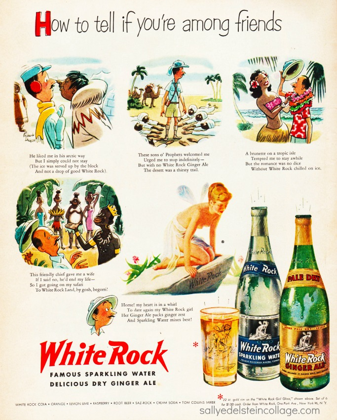 Vintage White Rock Beverage Ad 1951