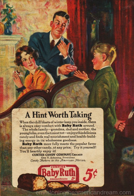 vintage baby ruth ad illustration family