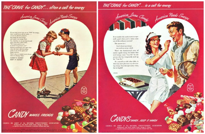 Vintage ads for Candy