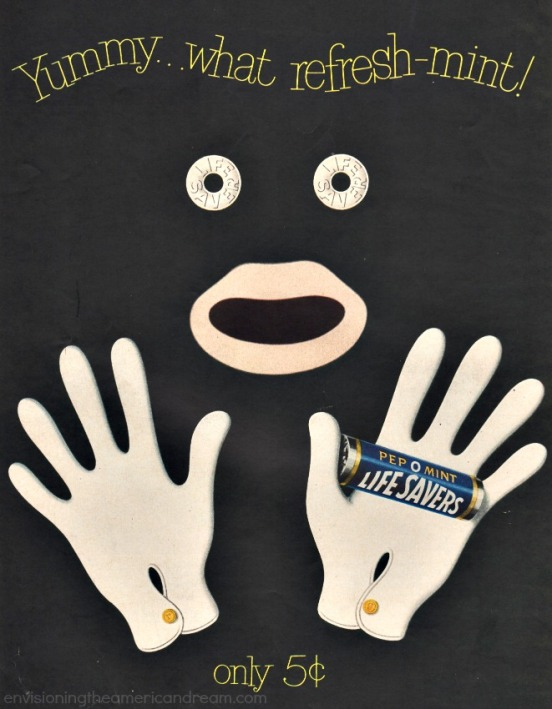 Blackface ad Lifesavers 1950