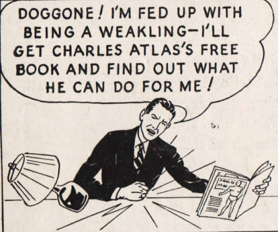Cartoon- Charles Atlas Ad 1947