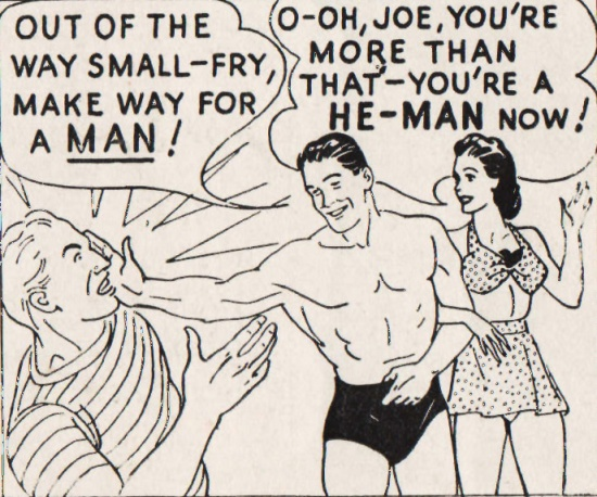 cartoon Charles Atlas ad 1940s