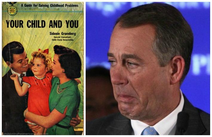 vintage childcare book John Boehner