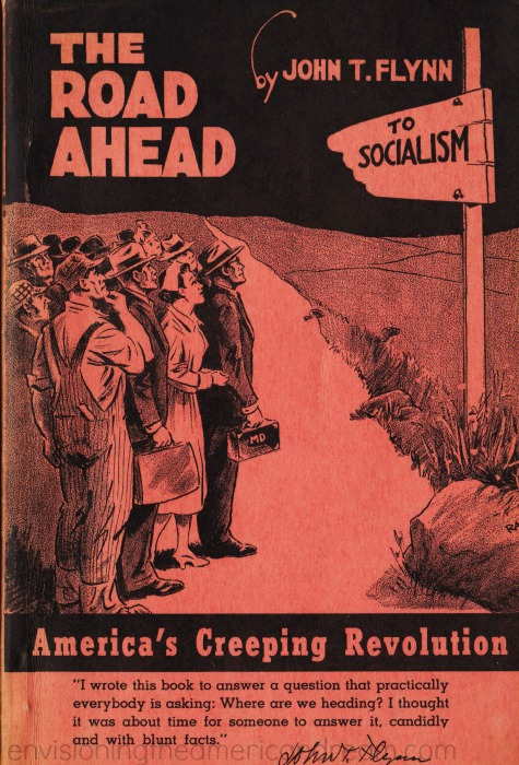 Right wing propaganda book cover  The Road Ahead