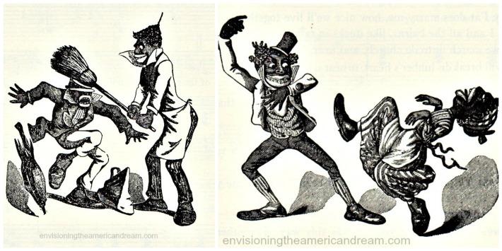 Racist B&W illustration Minstrel Shows